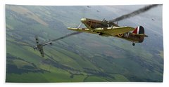 Battle Of Britain Dogfight Bath Towel