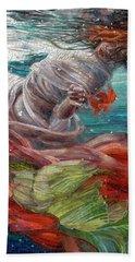 Hand Towel featuring the painting Batyam by Mia Tavonatti
