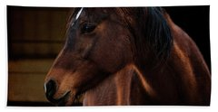 Hand Towel featuring the photograph Bay Arabian Mare 2 by Karen Slagle