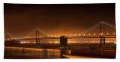 Bay Bridge At Night Hand Towel