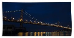 Bay Bridge At Night Hand Towel