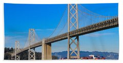 Bay Bridge With Apl Houston Hand Towel