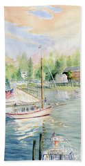 Bay Lady  Bath Towel by Melly Terpening