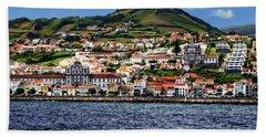 Bay Of Horta Hand Towel by Anthony Dezenzio