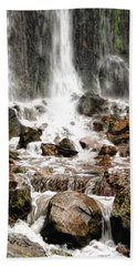 Bath Towel featuring the photograph Bayfront Park Waterfall by Lars Lentz