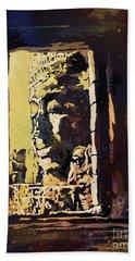 Bayon IIi- Cambodian Ruins, Angkor Wat Bath Towel by Ryan Fox