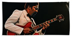 B. B. King Hand Towel by Paul Meijering