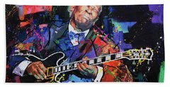 Bb King Hand Towel by Richard Day
