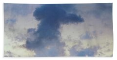 Blue Bunny Cloud  Hand Towel