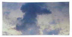Blue Bunny Cloud  Bath Towel