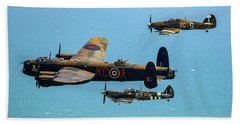 Bbmf Eastbourne Beachy Head Flypast Bath Towel by Ken Brannen