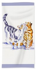Be Cherished Hand Towel by Debra Hall