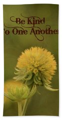 Be Kind To One Another Hand Towel by Trish Tritz