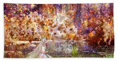 Hand Towel featuring the digital art Be Still And Know by Dolores Develde