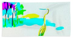 Hand Towel featuring the digital art Beach Abstract by Frank Bright
