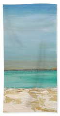Bath Towel featuring the painting Beach Afternoon by Diana Bursztein