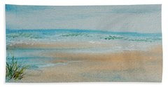 Beach At High Tide Hand Towel