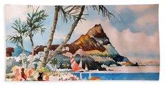 Beach At Honululu, Hawai Hand Towel
