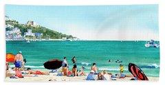 Beach At Roses, Spain Hand Towel