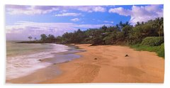 Beach At Sunset Near Makena Route 31 Hand Towel