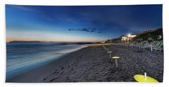 Beach At Sunset - Spiaggia Al Tramonto I Hand Towel