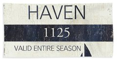 Beach Badge Beach Haven Bath Towel
