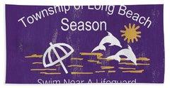 Beach Badge Long Beach Bath Towel