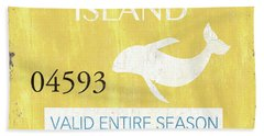 Beach Badge Long Beach Island 2 Hand Towel
