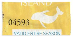 Beach Badge Long Beach Island Hand Towel