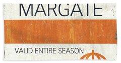 Beach Badge Margate Bath Towel