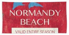 Beach Badge Normandy Beach Bath Towel