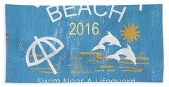 Beach Badge Virginia Beach Bath Towel