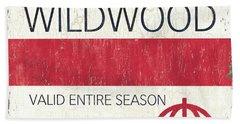 Beach Badge Wildwood 2 Hand Towel