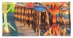 Beach Bar Morning Bath Towel by Glenn Gemmell
