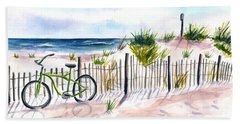 Beach Bike At Seaside Hand Towel