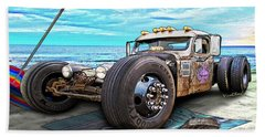 Beach Blanket Rat Rod Hand Towel