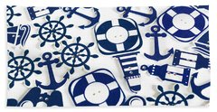 Beach Blue Background Hand Towel