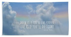 Beach Blue Quote Bath Towel