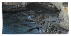 Beach Cave From The Cliffs In Malhada Do Baraco Bath Towel