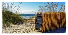 Beach Chairs Hand Towel by Paul Mashburn