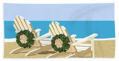 Beach Chairs With Wreaths Bath Towel