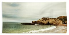Beach Day At Montana De Oro Inspooner's Cove San Luis Obispo County California Hand Towel