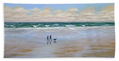 Beach Dog Walk Bath Towel
