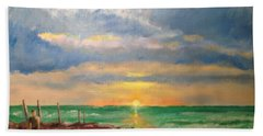 Beach End Of Day Hand Towel
