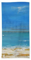 Bath Towel featuring the painting Beach  Evening by Diana Bursztein
