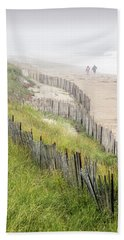 Beach Fences In A Storm Hand Towel