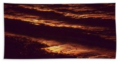 Hand Towel featuring the photograph Beach Fire by Laurie Stewart