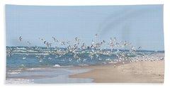 Bath Towel featuring the photograph Beach Flight by Nikki McInnes