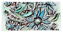 Beach Glass Flowers 1- Art By Linda Woods Hand Towel