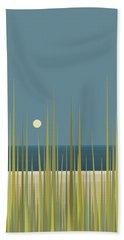 Bath Towel featuring the digital art Beach Grass And Blue Sky by Val Arie